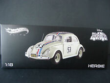 Hotwheels Elite Volkswagen Beetle 1963 Herbie The Love Bug 1/18