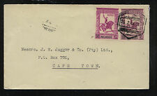 Portugal   Mozambique  cover to  Cape Town       MM1101