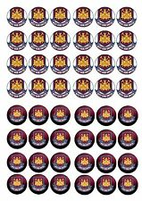 West Ham United commestibili wafer riso CARTA CUP CAKE TOPPER x48
