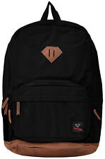 Diamond Supply School Life Backpack Black Authentic Adjustable Padded Suede Bag