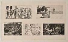 Max Klinger - Amor und Psyche, 5 Vignetten aus: Opus V,Bl. 16 - Radierung - 1880
