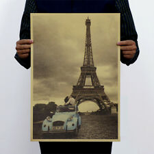 Eiffel Tower Paris Vintage  Picture Decal Kraft Paper Decal Poster Wall Decor