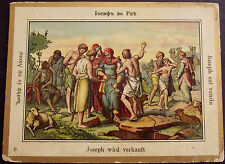 JUDAICA RUSSIA OLD CARD BIBLE JOSEPH & HIS BROTHERS ?