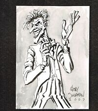 The Joker: Gary Shipman Comic Sketch Card 2007 ~ WH