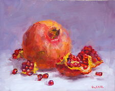 "OriginalOil painting, Still life kitchen art ""Pomegranates"" realism Russian"