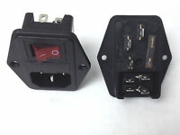 COMPUTER AND ARCADE SWITCHED POWER SOCKET WITH 5 AMP FUSE -JAMMA /MULTICADE -ECT