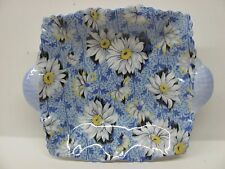 Shelley England Fine Bone China Blue Daisy Chintz Pin Tray Trinket Dish