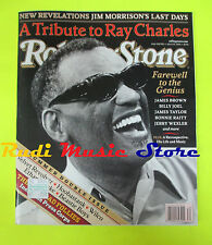 ROLLING STONE USA MAGAZINE 953/2004 Ray Charles Jim Morrison Patti Scialfa No cd