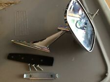 Chevy Rectangle Left Hand Driver Side Door Mounted Rear View Mirror US made