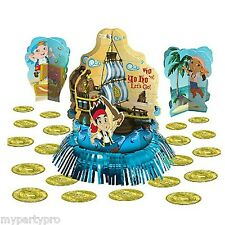 JAKE AND THE NEVER LAND PIRATES party supplies (TABLE DECORATING KIT)