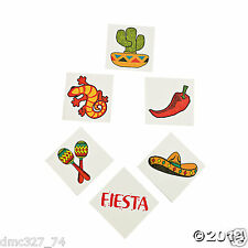 72 Fiesta Cinco de Mayo Party Favors Prizes Pinata Filler TEMPORARY TATTOOS