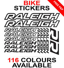 Raleigh decals stickers sheet (cycling, mtb, bmx, road, bike) die-cut