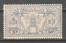 French New Hebrides 1925,50c (5p),Sc 50,MNH** (P-5)