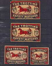 Ancienne étiquette de paquet allumettes Suède AZ4288 Trotteur Cheval