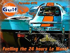 Porsche 917K Racing Car Le Mans Classic Garage Advertising Medium Metal/Tin Sign