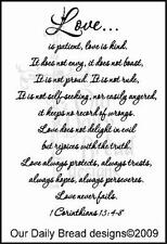 Our Daily Bread Designs Cling Stamp 1 Corinthians 13 Love is Patient, Kind B56
