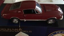 Franklin Mint 1968 Shelby GT 500KR Fastback Diecast 1/24 Red NIB B11E102