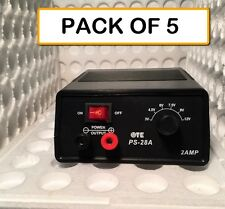 (PACK OF 5)  PS-28A TATTOO POWER SUPPLIES 3-12VDC @ 2 AMP