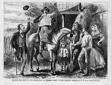 READING THE NEWS GENERAL GRANT NOMINATION, COUNTRY FOLKS, HORSE, FARMERS AMPUTEE
