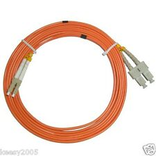 LC to SC Fiber Patch Cable Cord Jumper Duplex MM 62/125 2M