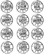 Autumn Leaves Clear Stamps SENTIMENTS CIRCLES PLAYFUL GROOVY SASSY FRIENDS SILLY