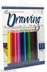 ART SET A4 Spiral Bound Drawing & sketching pad & 24 colour artist pencils RD504