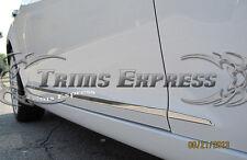 "2008-2014 Dodge Avenger 4Pc Chrome Flat Body Side Moulding Trim 1"""