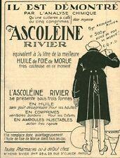 """Publicité Ancienne """" Médicament ASCOLEINE Rivier  1918 ( P 35 )"""