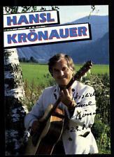 Hansl Krönauer Autogrammkarte Original Signiert ## BC 53106