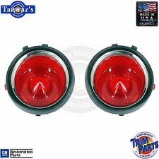 70-73 Camaro Taillight Tail Light Lamp Lens (without RS Trim) USA Made - PAIR