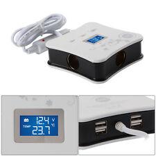 5 in 1 12V Multi Socket Car Cigarette Lighter Splitter USB Charger Adapter MA728