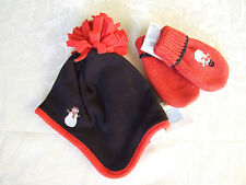 NWT! Janie and Jack Boys Snowman Winter Hat and Mitten 12-24m