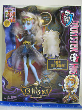 """Monster High - 13 Wishes Haunt the Casbah  """"ABBEY BOMINABLE"""" Doll & Her Lantern"""