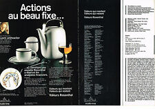 PUBLICITE  1978   ROSENTHAL   ART DE LA TABLE ( 2 pages) SUOMI ANTHRACITE