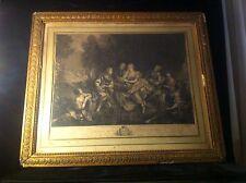 Grande gravure XVIIIe « Télémaque dans l'île de Calypso »