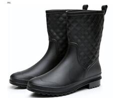 LADIES WOMENS WELLIES WATERPROOF LOW ANKLE RAIN SNOW BOOTS WELLINGTON SHOES SIZE