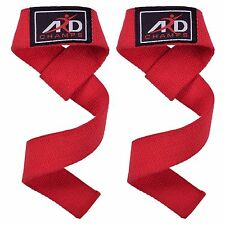 ARD Hand Bar Straps Weight Lifting Cotton Straps Strenthen Training Workouts RED