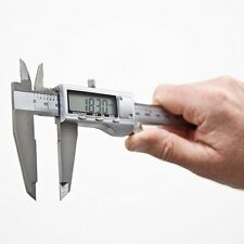"6"" 150mm Digital LCD Silver Vernier Caliper Micrometer Gauge Stainless Steel"