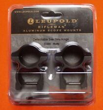 "Leupold Scope Rings Weaver Rail Mount 1"" Diameter See Thru High Profile 55880"