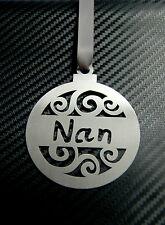 NAN BAUBLE Gran Nanny Mum Laser Cut Decoration Christmas Tree Hanging Ornament