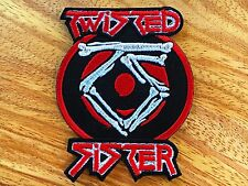 Twisted Sister Sew On Patch Iron Embroidered Rock Band Heavy Metal Music Logo