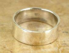 THICK .925 STERLING SILVER 8MM WIDE FLAT BAND RING size 9  style# r0537