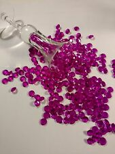 100 Fuchsia Acrylic Diamond Confetti 10 mm Limited Supply