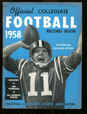 1958 NCAA Official Record Book Lee Grosscup Utah Ex 15677