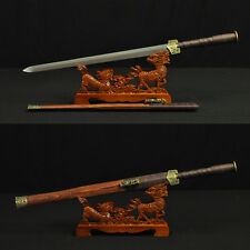 HIGH QUALITY HAND MADE CHINESE SWORD HAN JIAN (漢劍) FOLDED STEEL BLADE
