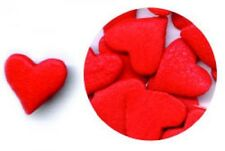 Edible Confetti Sprinkles Cookie Cake Cupcake Valentines LARGE RED HEARTS 8 oz.