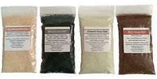 Gourmet Sea Salt Sampler: 4 salts: Himalayan, French Grey, Red Alaea, Black Lava