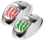 LED Evoled Navigation Port & Starboard Lights 12v Stainless Steel