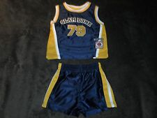 HOPSCOTCH All star Baby Toddler Blue Gold SLAM DUNK 79 BASKETBALL Outfit 3-6 M