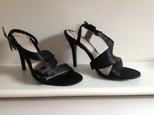 RAVEL BLACK SATIN WITH DRAGONFLY ACCENT PARTY SANDALS SIZE 5